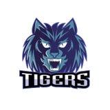 Sport di squadra di logo delle tigri di progettazione Immagini Stock