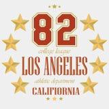 Sport di squadra di Los Angeles della maglietta Fotografia Stock