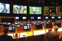 Sport die bij het Paleis van Caesar wedden   in Las Vegas Stock Foto