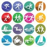 Sport die eingestellten Ikonen Lizenzfreies Stockbild