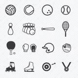 Sport die eingestellten Ikonen Abbildung Lizenzfreie Stockbilder