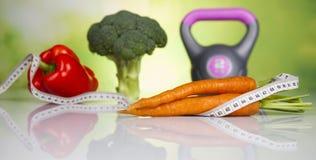 Sport diet, Calorie, measure tape Royalty Free Stock Photos
