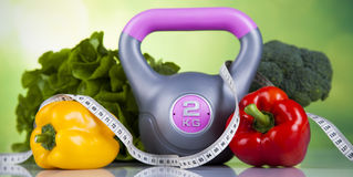 Sport diet, Calorie, measure tape Royalty Free Stock Photography
