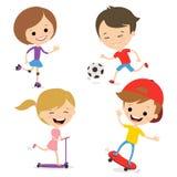 Sport divertenti del gioco dei bambini Fotografia Stock Libera da Diritti