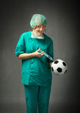 Sport Doctor in action for doping Royalty Free Stock Photography