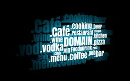 Sport domain names cloud Royalty Free Stock Photography