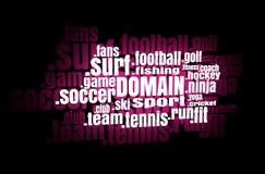 Sport domain names cloud