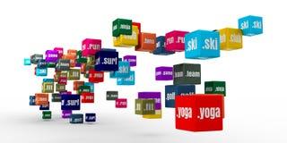 Sport domain names Stock Photo