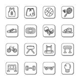 Sport Doodle Icons Stock Image