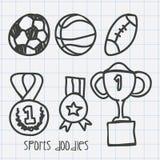 Sport doodles Stock Image