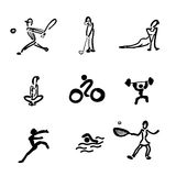 Sport drawing icons Stock Image