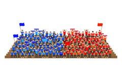 Sport drużyny zwolennika doping na stojaku royalty ilustracja