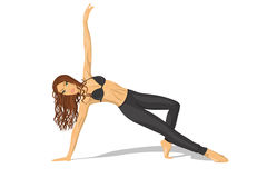 Sport dziewczyna robi sprawności fizycznej ćwiczy Obraz Stock