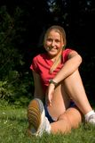 Sport e donna Fotografie Stock