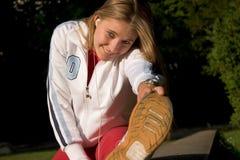 Sport e donna Fotografie Stock Libere da Diritti