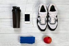 Sport e fondo di forma fisica per l'uomo Fotografia Stock