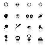 Sport e giochi fissati icone Fotografia Stock Libera da Diritti