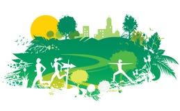 Sport e natura illustrazione di stock
