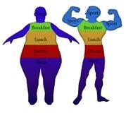 Sport e nutrizione adeguata illustrazione vettoriale