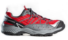 Sport e scarpe di escursione Fotografie Stock