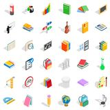 Sport education icons set, isometric style. Sport education icons set. Isometric style of 36 sport education vector icons for web isolated on white background Stock Photos