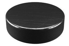Sport-Eis-Hockey-Puck Stockfotografie