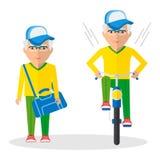 Sport elder mans royalty free illustration