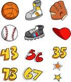 Sport-Element-Set Stockbilder