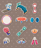 Sport element stickers Stock Images