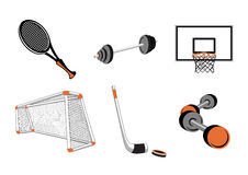 Sport elements Stock Photo