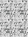Sport elements doodles hand drawn line icon,eps10 Royalty Free Stock Photo