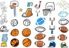 Sport Elements Set Stock Photography