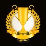 Sport Emblem on black Royalty Free Stock Photos