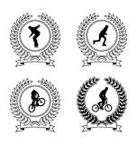 Sport-Embleme 1 Stockfotografie