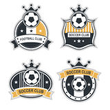 Sport emblems. Vector set sport emblems. Logo badges and labels  Football icon Stock Images