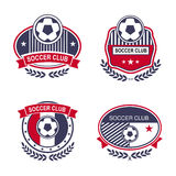Sport emblems. Vector set sport emblems. Logo badges and labels  Football icon Royalty Free Stock Photography