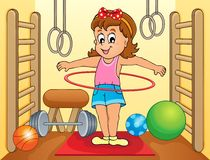 Sport en beeld 5 van het gymnastiekonderwerp Stock Foto