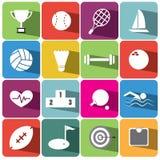 Sport en de vastgestelde illustratie eps10 van het financiënpictogram Royalty-vrije Stock Fotografie