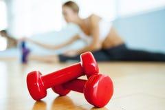 Sport en fitness concept. Royalty-vrije Stock Afbeeldingen