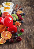 Sport en het gezonde eten Stock Foto