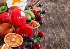 Sport en het gezonde eten Stock Fotografie