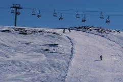Sport en recreatie in de sneeuw Royalty-vrije Stock Afbeeldingen