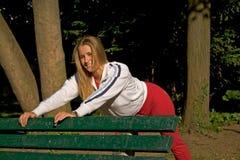 Sport en vrouw Royalty-vrije Stock Afbeeldingen