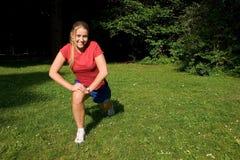 Sport en vrouw stock foto's