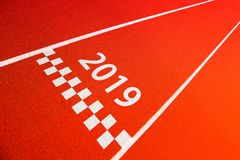 Sport entering new year 2019 background Royalty Free Stock Image