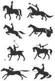 Sport equestri delle icone Fotografia Stock