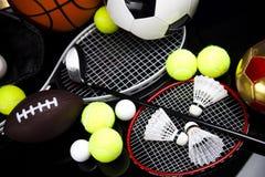 Sport equipment and balls Stock Photos