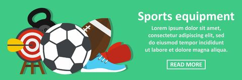 Sport equipment banner horizontal concept Stock Photography