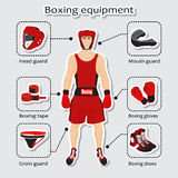 Sport equipment for boxing martial arts Stock Image