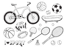 Sport equipment collection Stock Image